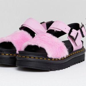 Dr Martens Voss Fluffy Flat Sandals